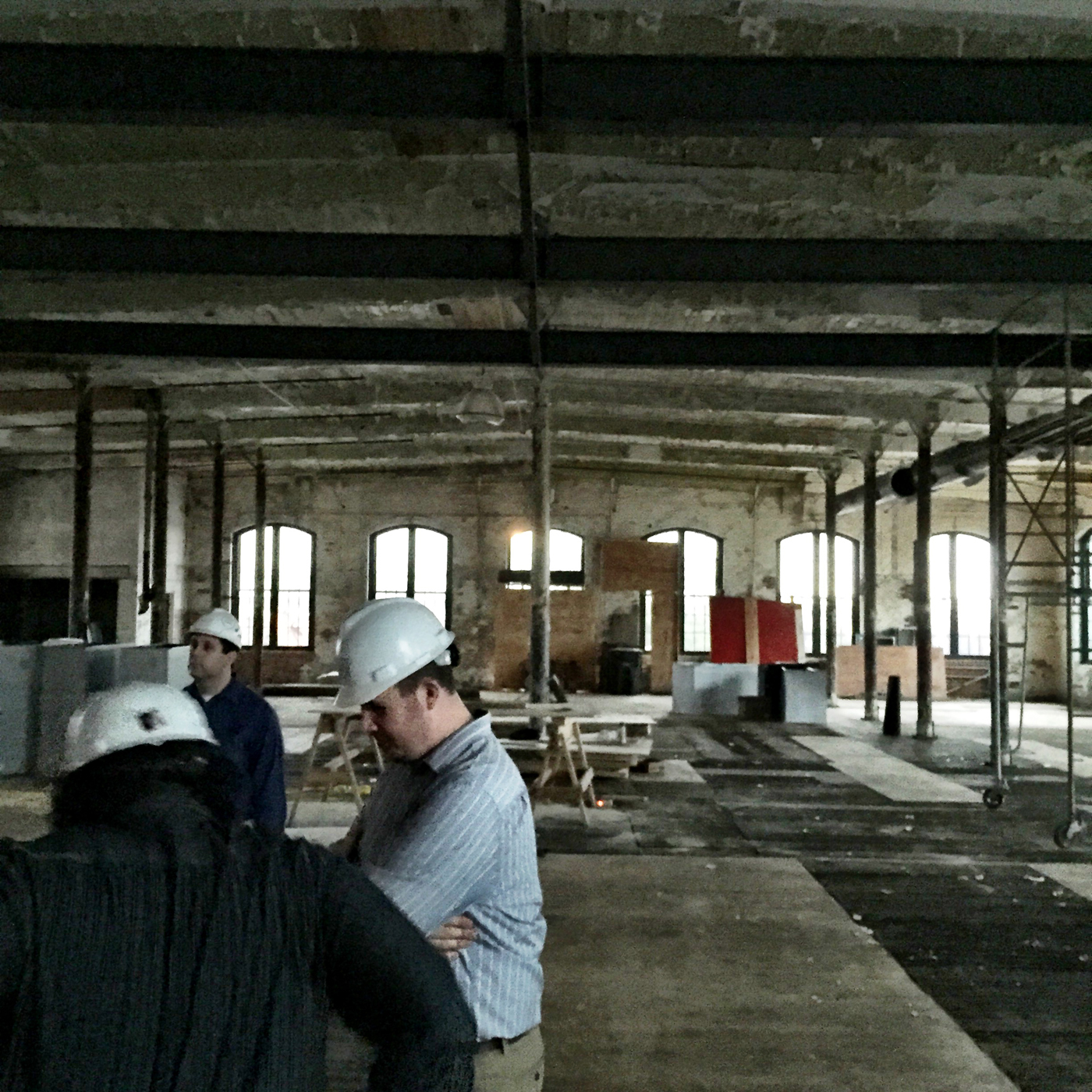 This is a room that is going to be used for events. Very cool. There is a subtle slope to the roof/ceiling.