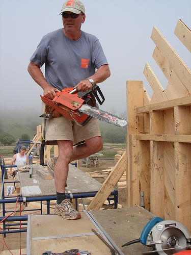 """Brian MacKay-Lyons stars in """"The Chainsaw Architect"""""""