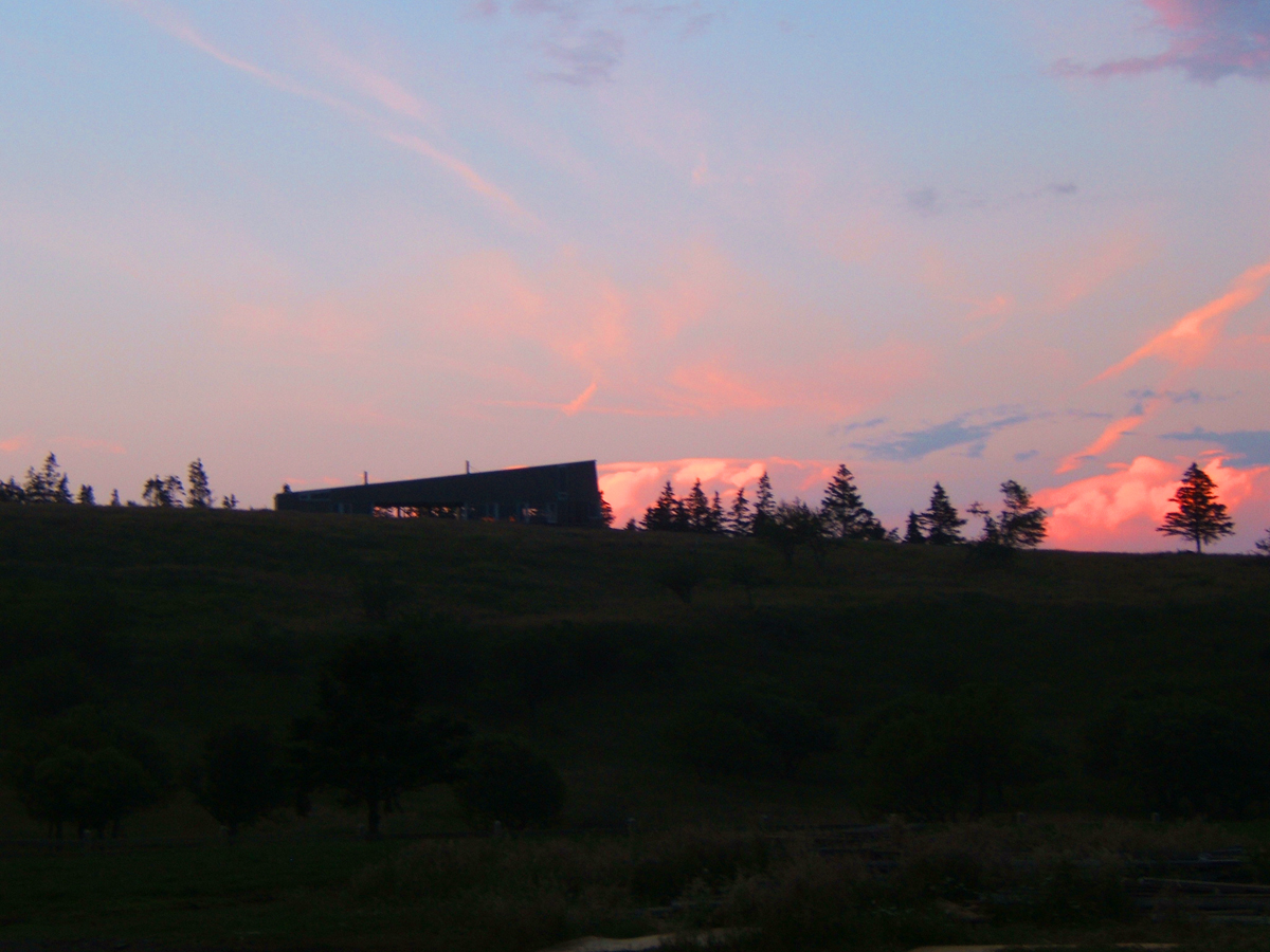 This is a house that overlooked the Ghost Site. Looking back through my notes and I cannot find the name for this house. I would call it the Hill House if there wasn't already another house called that. How about that sky!
