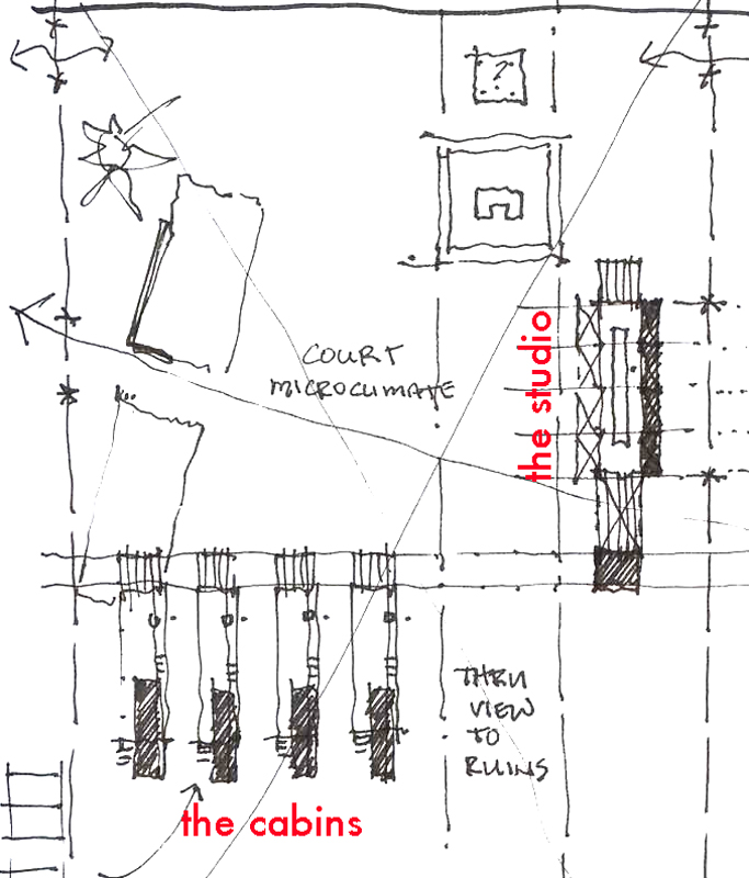 Site Plan Sketch.  Courtesy of Brian MacKay-Lyons.