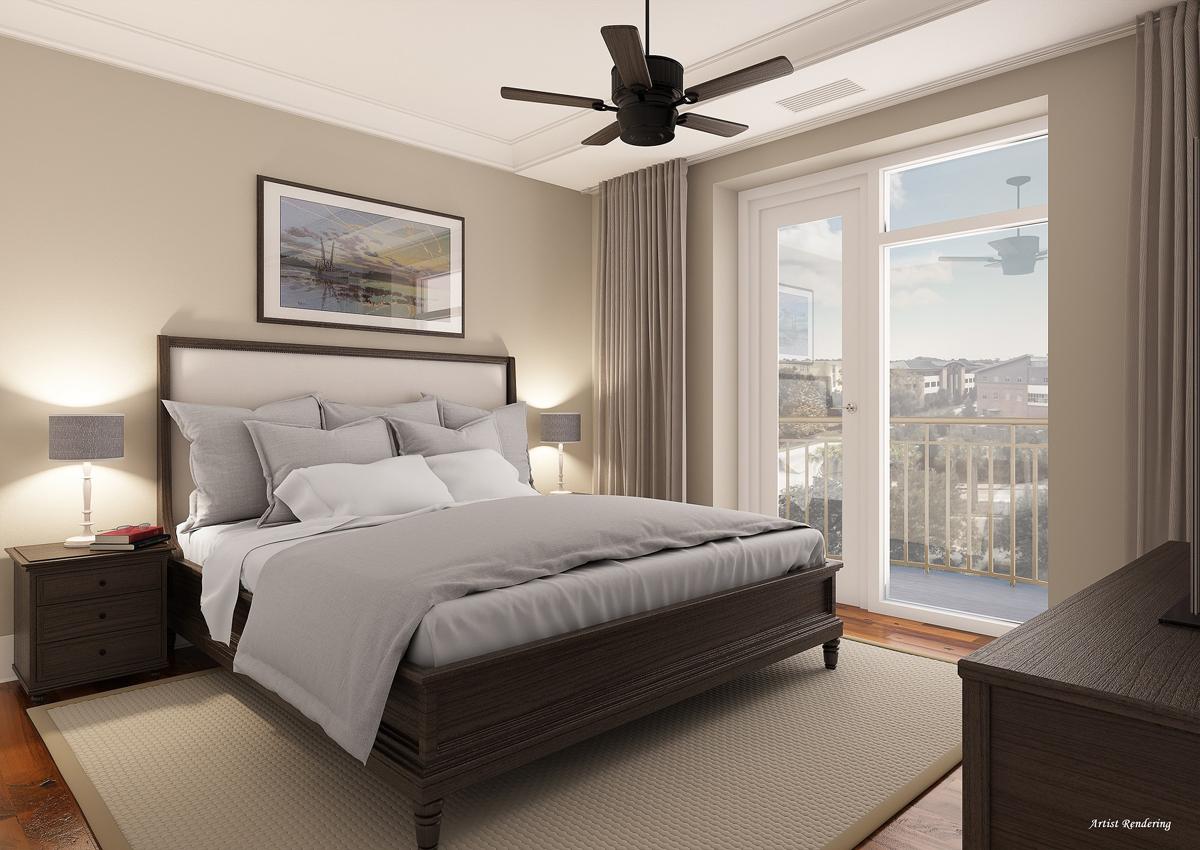 View of master bedroom. Rendering courtesy of Jeff Brink at jeffbrink.com