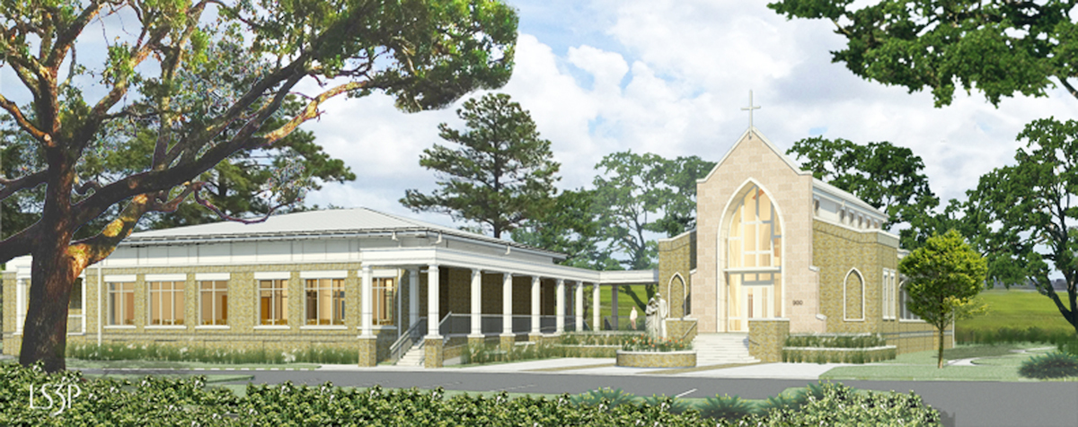 Rendering of Chapel and Assembly Building by LS3P.