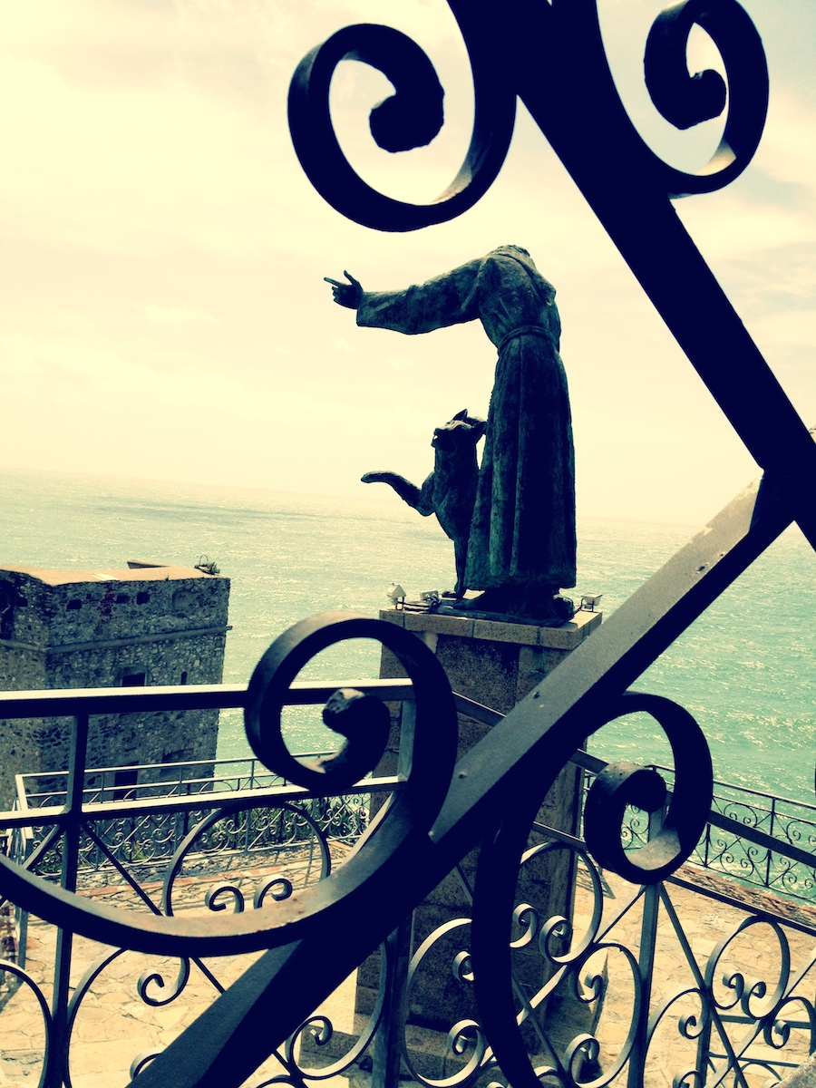 Statue of St. Francis of Assisi above Montorosso al Mare