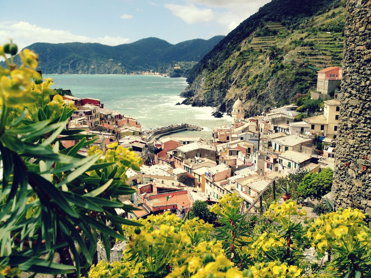On our way to Corniglia looking back towards Vernazza.