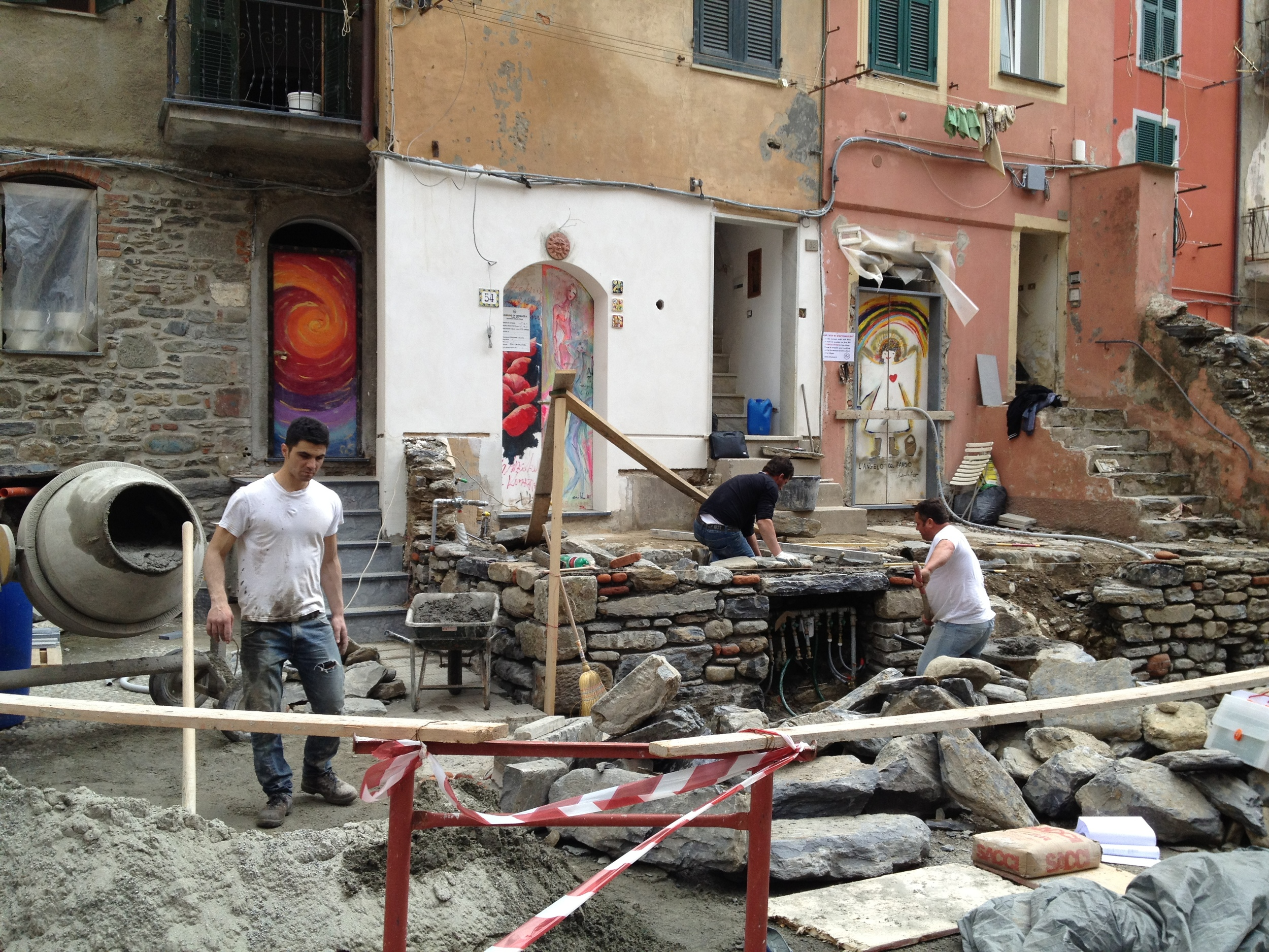 Rebuilding of Vernazza