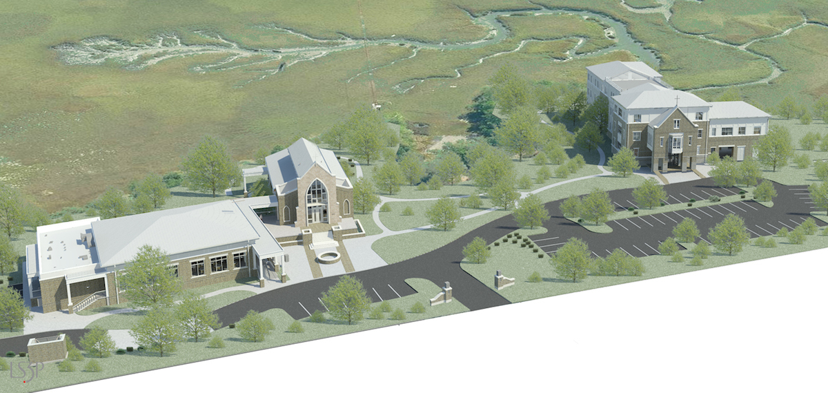 Aerial Site Plan Rendering.
