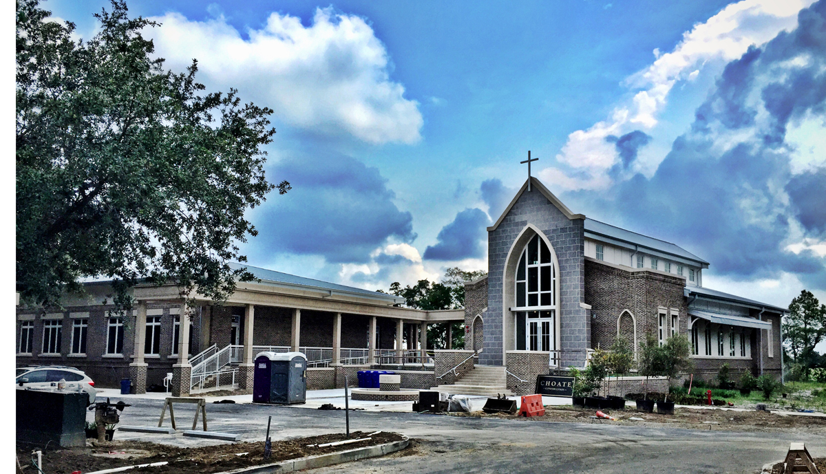 A recent picture of the chapel.  It will open later this month.