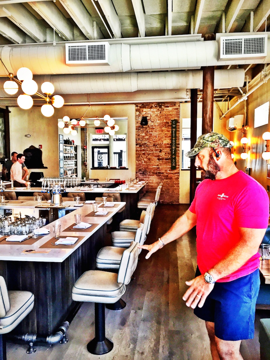 Co-owner Steven Niketas giving us a tour of the restaurant. I really appreciate an owner that is proud and invested in the details.