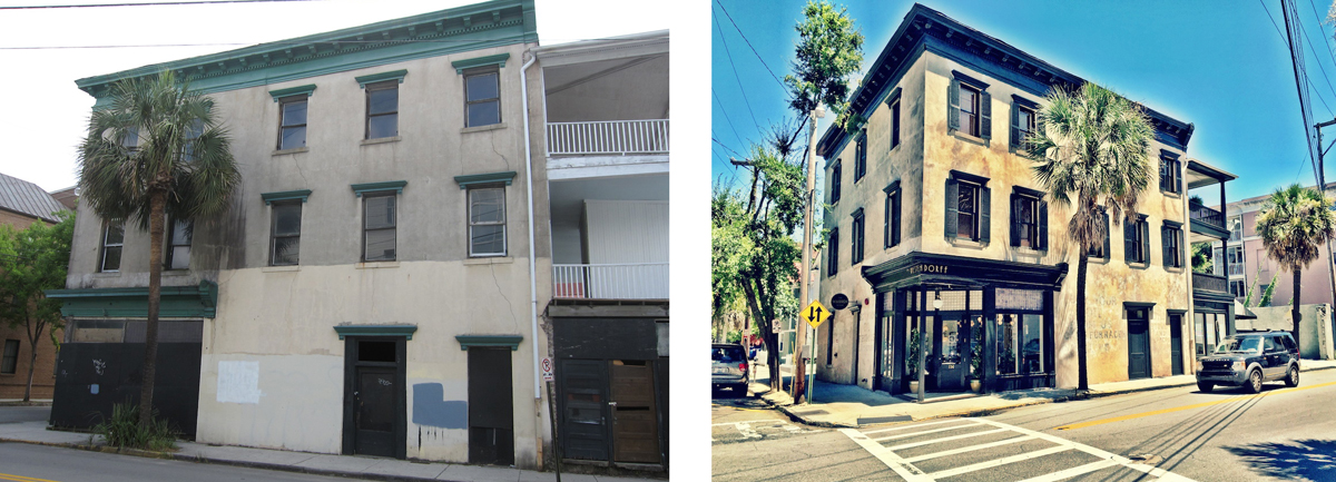 Comparison of the building in 2013 with today.