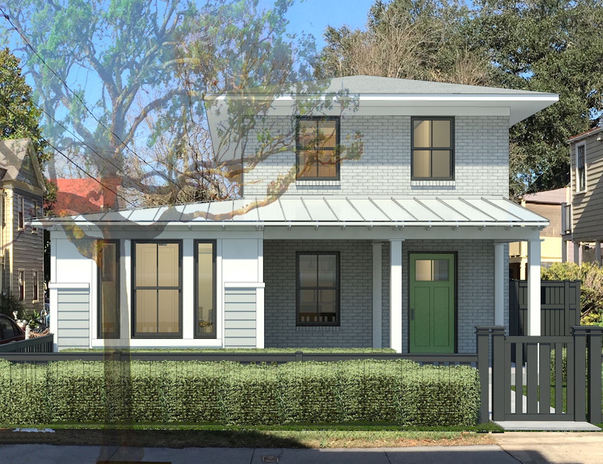 Our little brick box transformed. This is a rendering btw.
