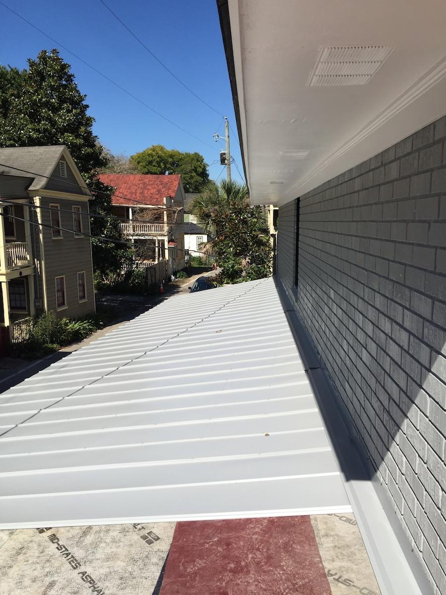 5V Crimp Metal Roof. Don't tell D that I was on the roof without a safety harness.
