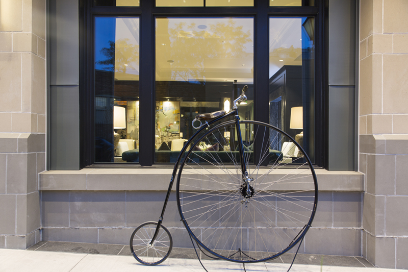 The Spectator's Penny-farthing. I really need to try to ride that thing. Notice how I said try.