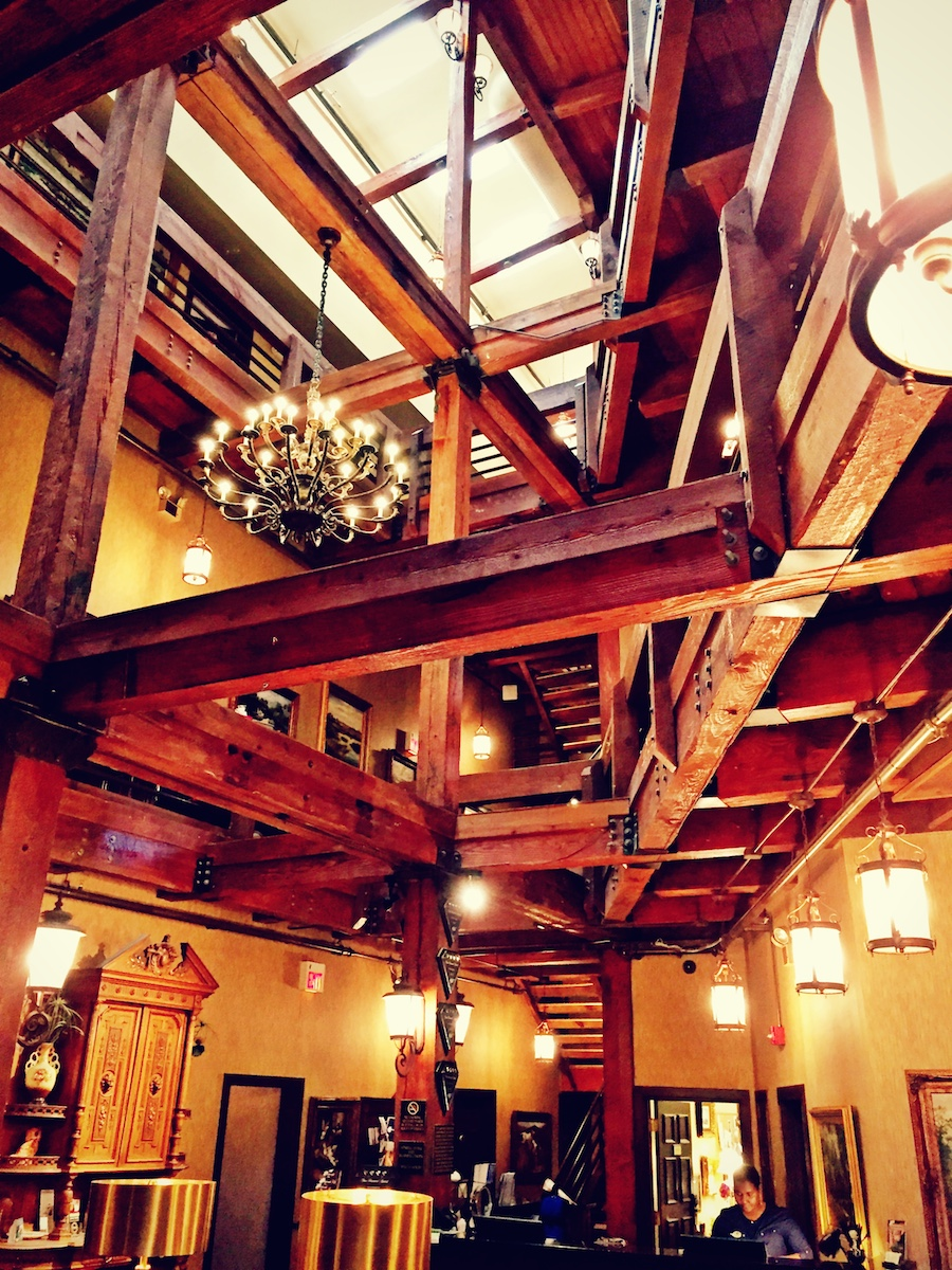The atrium at the Ansonborough Inn.