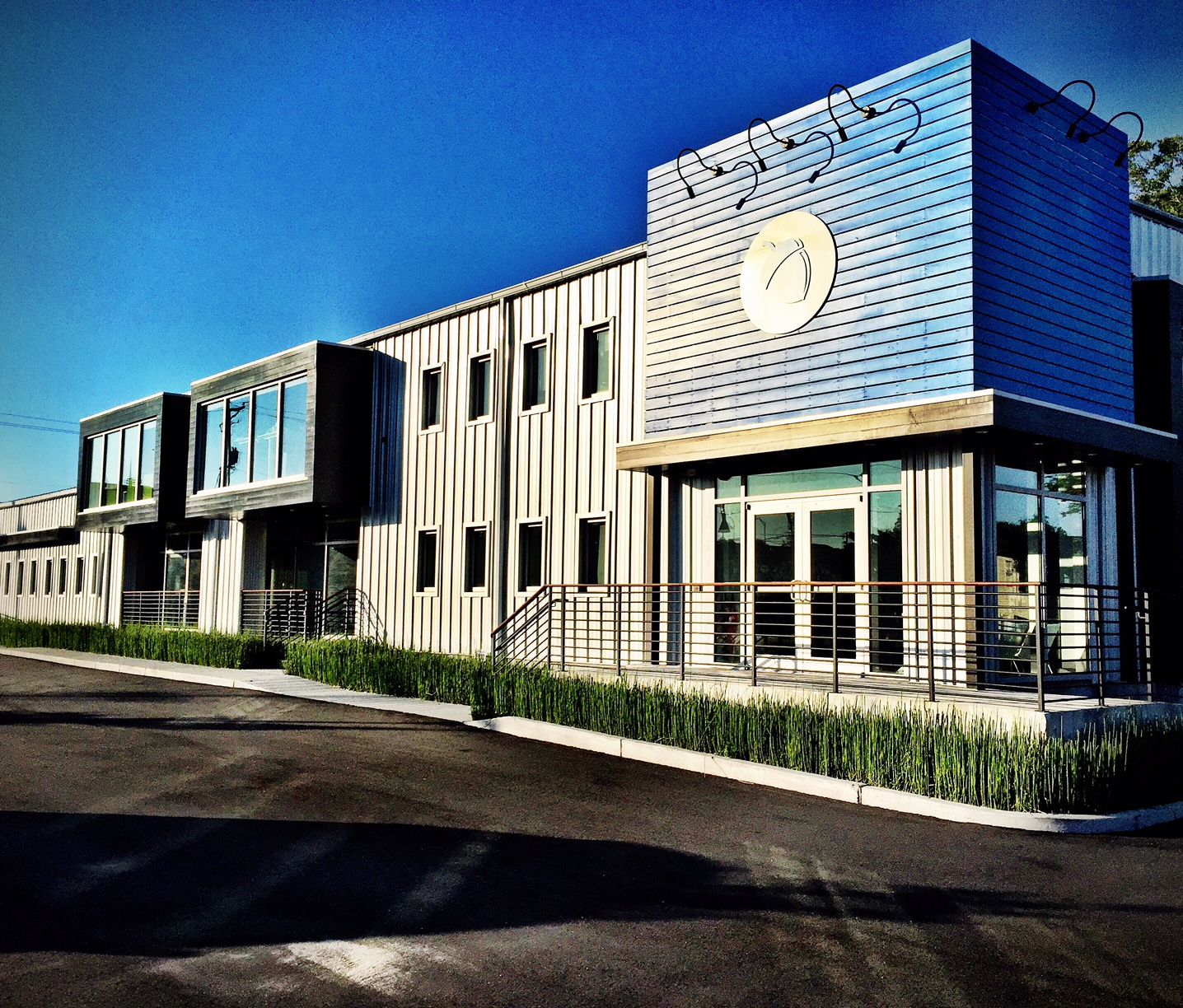 The office of Blue Acorn by The Middleton Group Architecture.  Photo Credit:  Steve Ramos.  This office is in a part of town referred to as Half Mile North.  This area has become a bit of hub of funky little modern buildings.