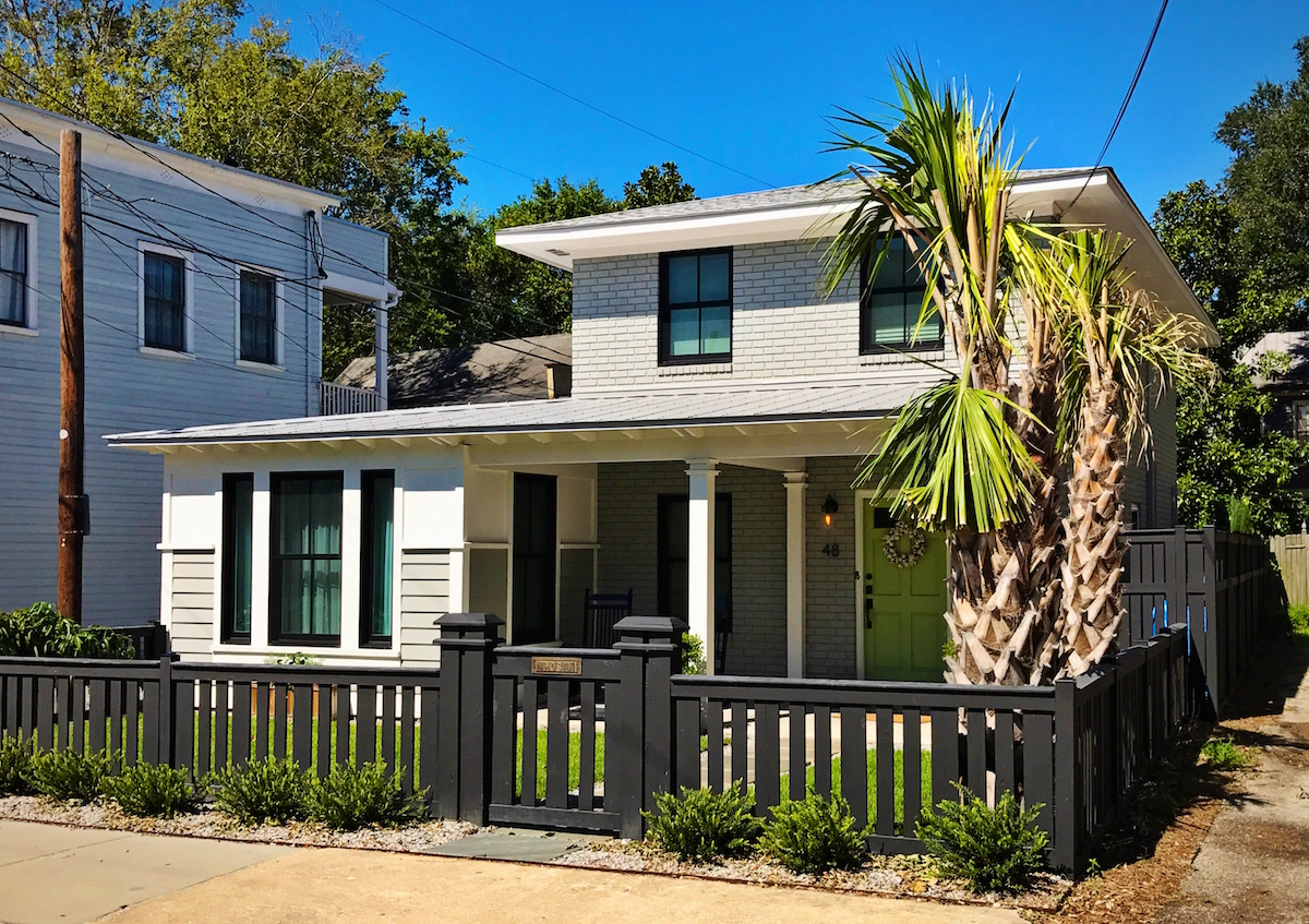 A picture of our home on Sunday, the day after the storm passed through. Our palmetto trees looked a little ragged but other than that we were good.
