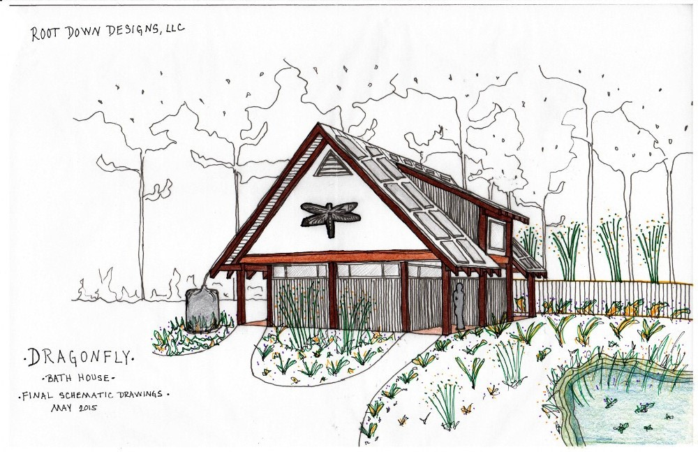 Rendering by April Magill of Root Down Designs.