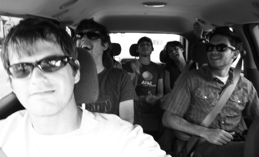I took this group selfie the summer of 2006.  This was before the term selfie even existed.  This was a van full of my pals from Brian MacKay-Lyons' Ghost Lab in Nova Scotia.  Taken the month before I started my career.