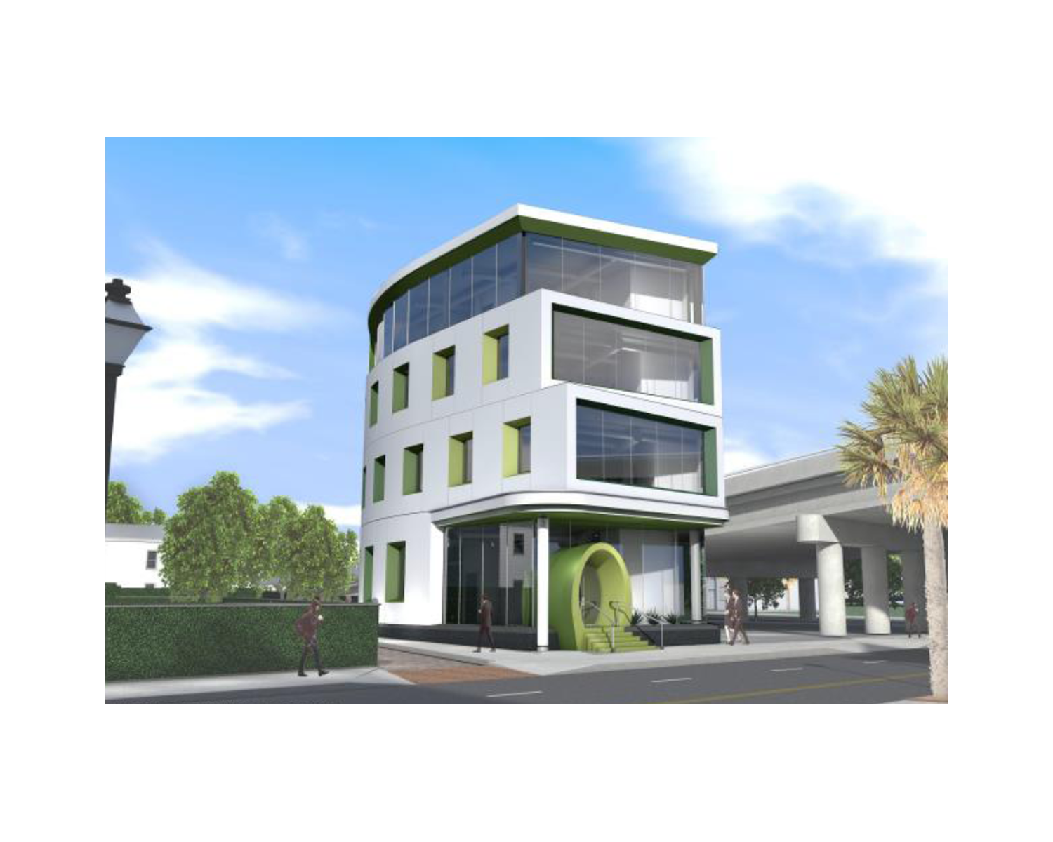 Rendering of the new office building at 663 King Street by Neil Stevenson Architects that was recently approved at the City of Charleston Board of Architectural Review.  Rendering courtesy of  City of Charleston Board of Architectural Review Website .
