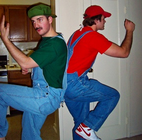 Mario and Luigi.  Believe it or not I am Mario.  This is a picture from 2006.  This was the last Baux Arts Ball I went to before graduating from the University of Maryland Architecture School.
