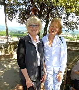 Marge, left, and me, in Lucca, Italia