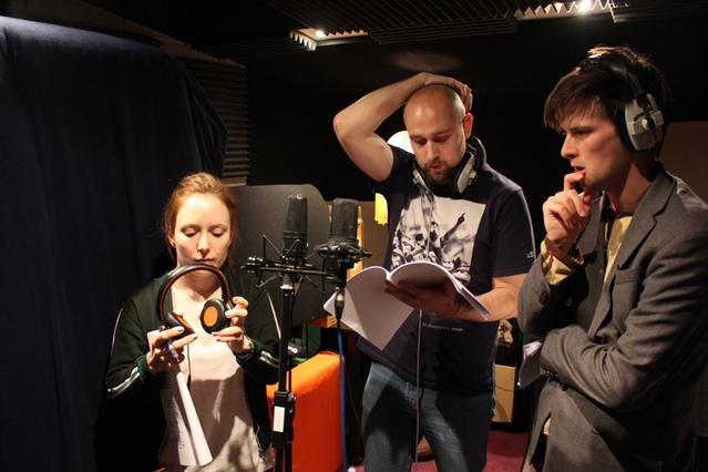 Freya Parker, Pip Gladwin, Kieran Hodgson | Photograph by Lars Thornhill