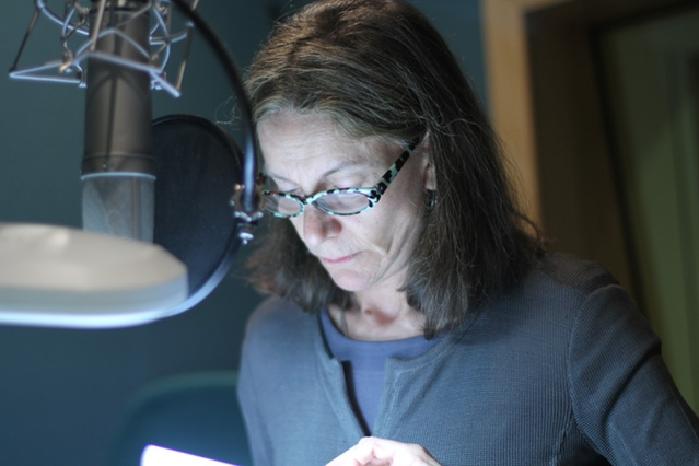 Belinda Lang's narration was recorded in an audiobook studio | Photograph by Lars Thornhill