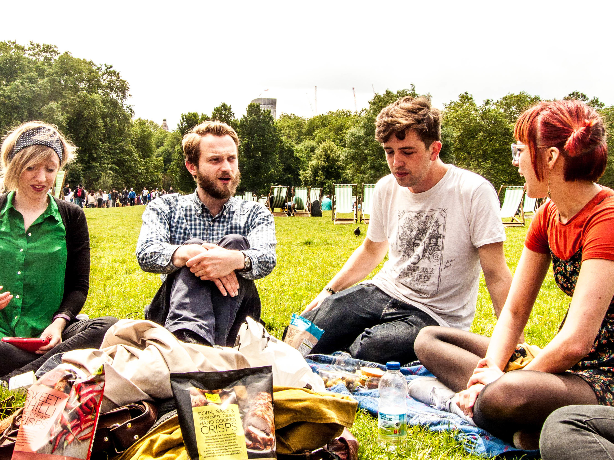 Gemma Arrowsmith (who played Georgie at the fundraiser while Ciara's at Glasto), Tom Crowley, Andy Goddard and Anna Lore