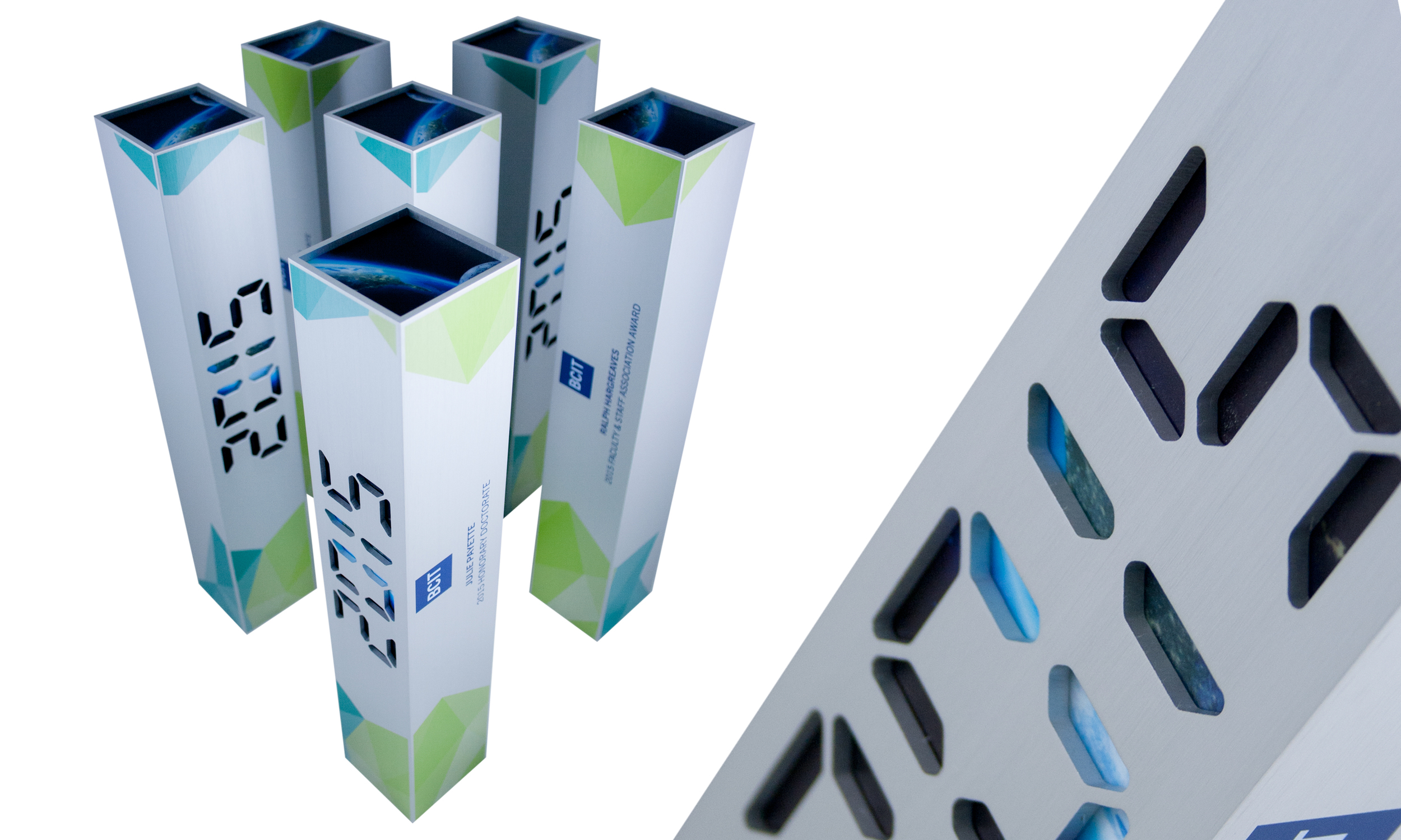 bcit creative awards trophies space technology