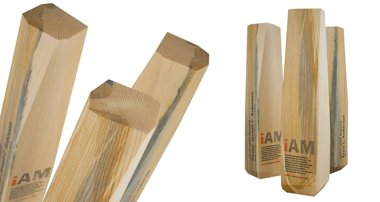 abstract eco-friendly recovered wood awards