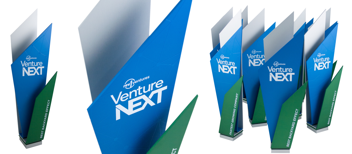 venture next custom recycled aluminum award trophy