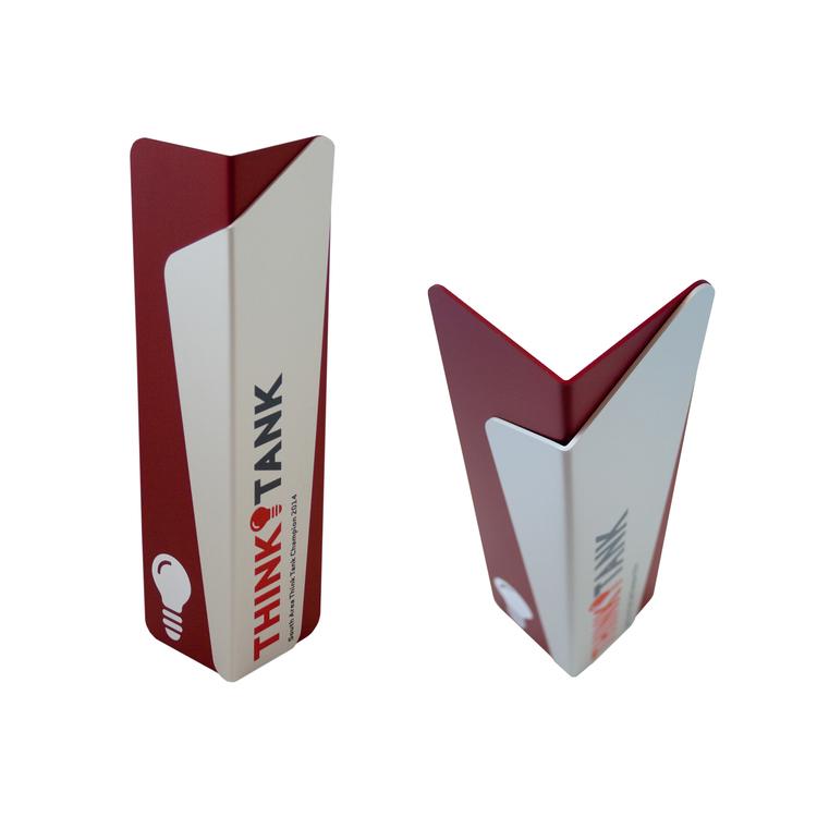 verizon think tank recycled aluminum wrapped award