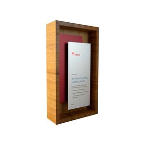 custom eco friendly shadow box bamboo