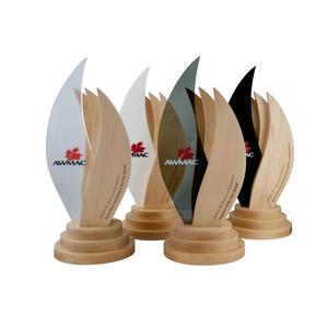 eco friendly canadian custom wood design trophies