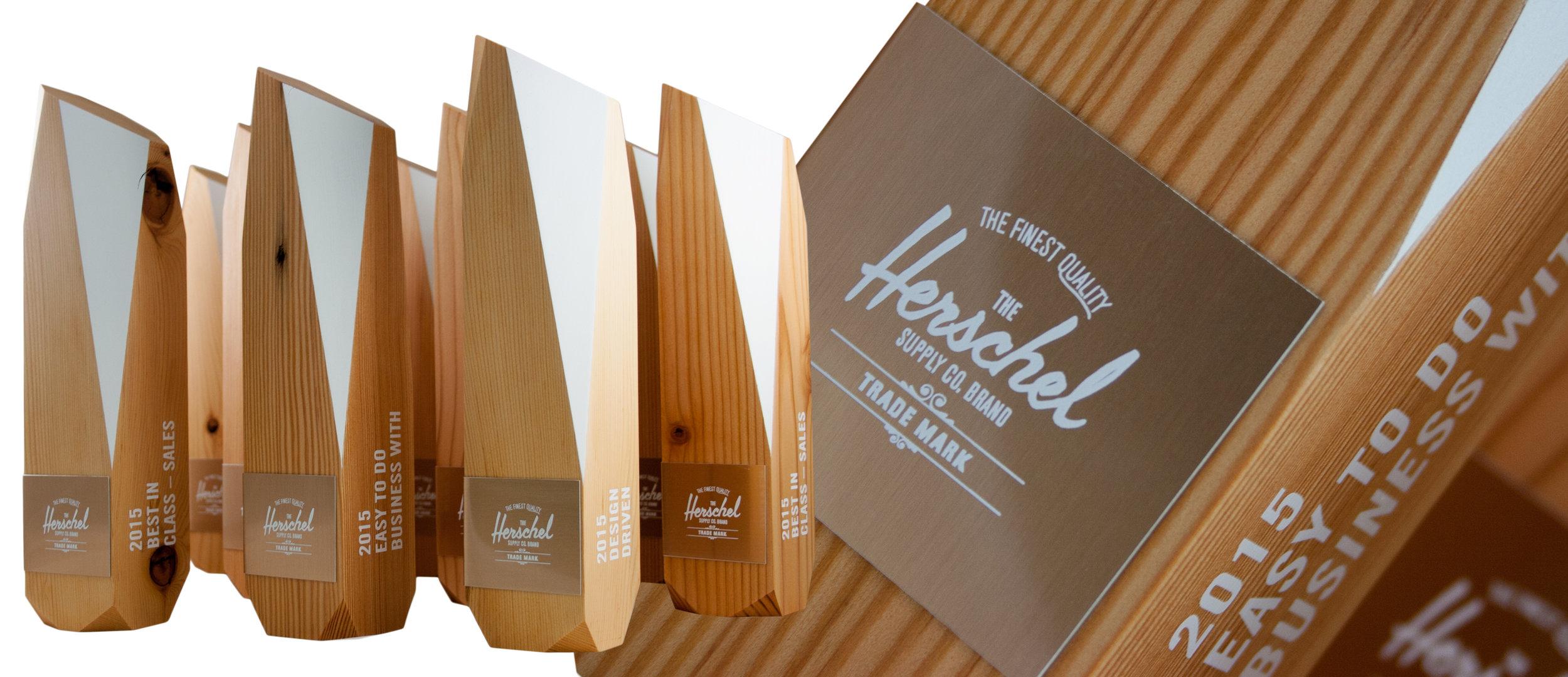 herschel eco friendly custom award design trophy