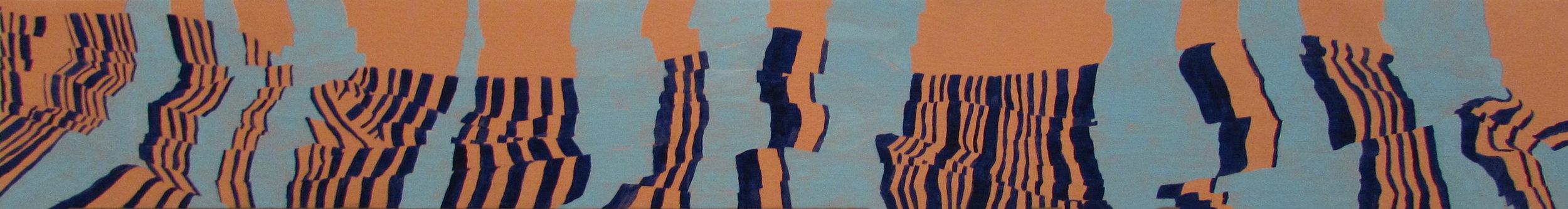 Tremors , oil on panel, 2016.