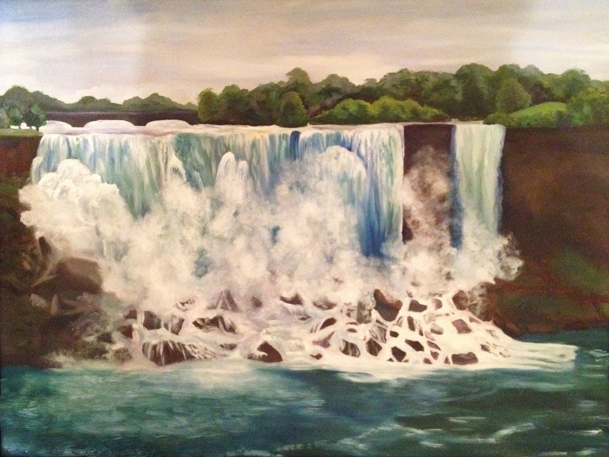 American Falls oil on canvas 18 x 24 inches 2014.    NFS