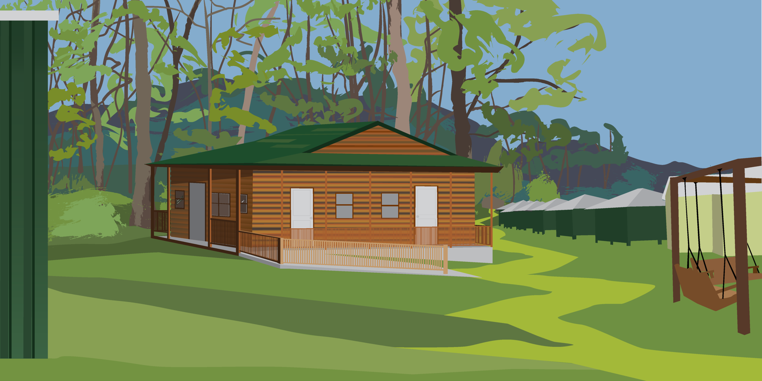 Camp Manatawny's Cabin Design Project, 2019, digital drawing.