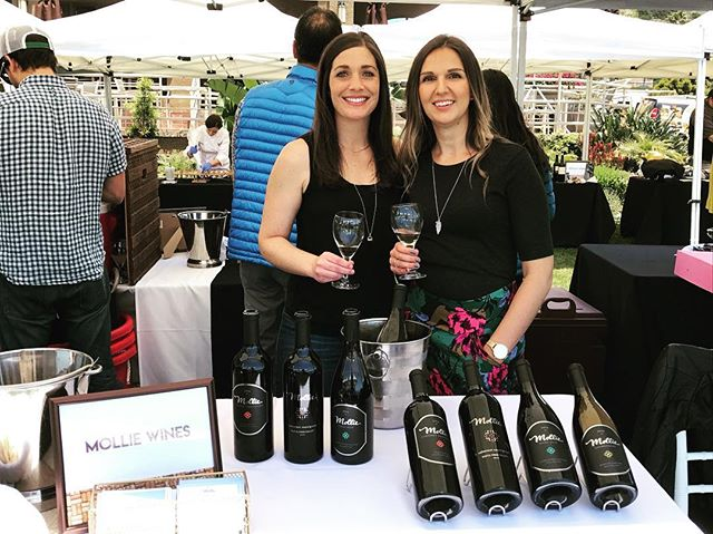 Remembering what an awesome time we had pouring at #winewavesandbeyond a few weeks ago. Thanks for your help, @danabrittanybyrd ! #mollie #wine #centralcoast #sbcwine #sbcwines