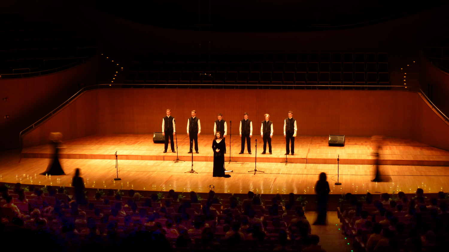 Performing at the Shanghai Oriental Arts Centre, 2011