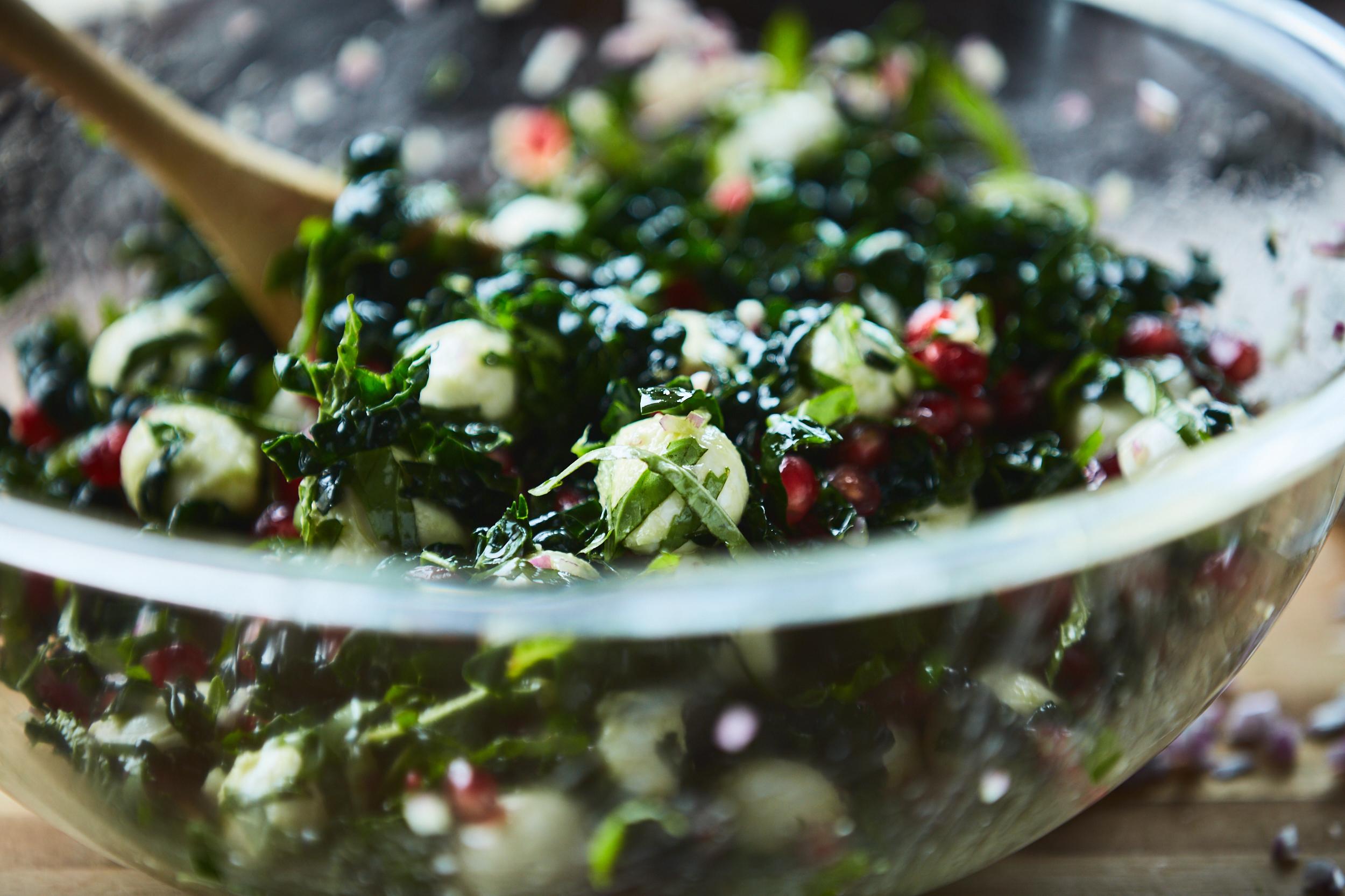 Mozzarella and Pomegranate Salad - Traveling Fork