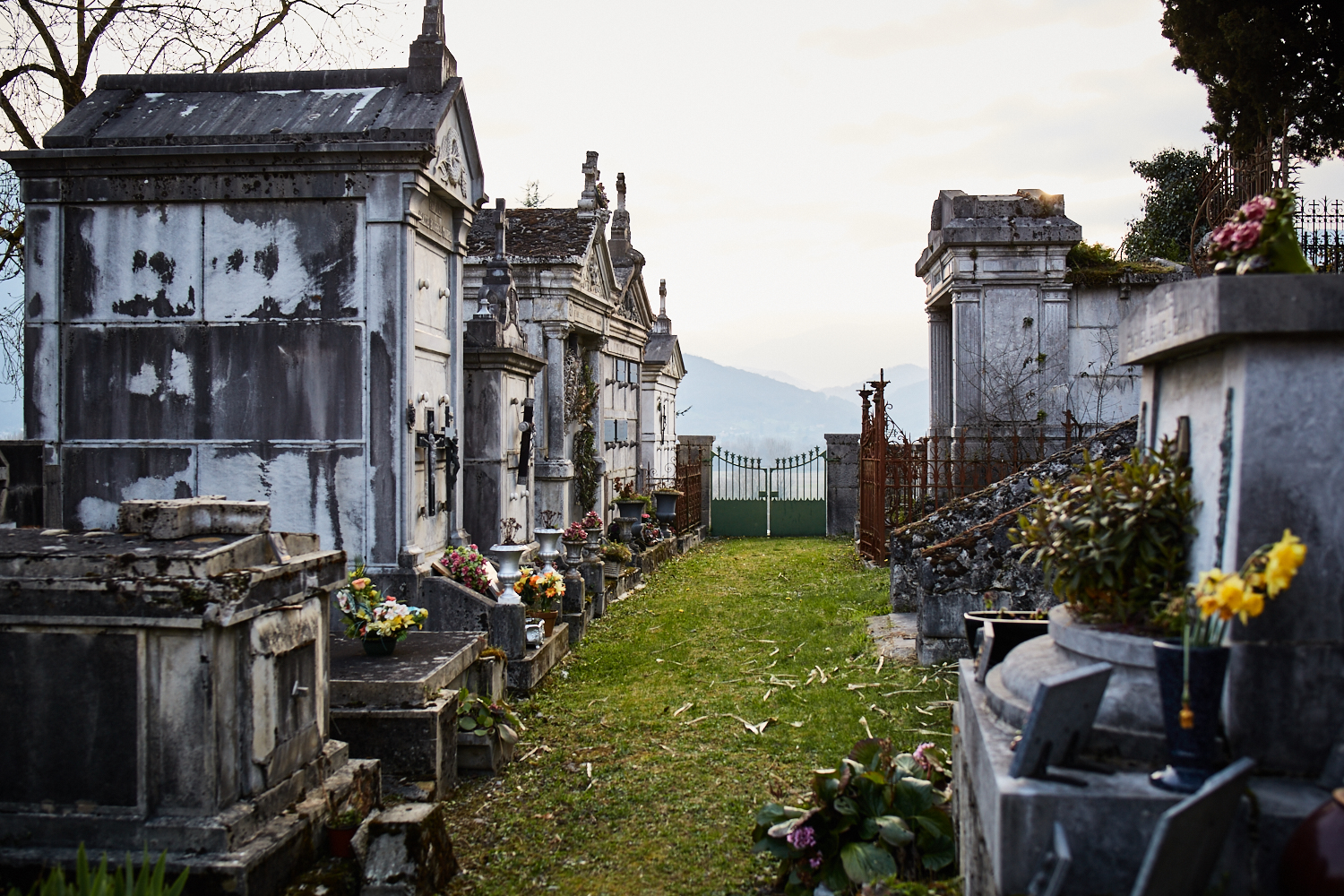 Gothic Graveyard in Ore, France