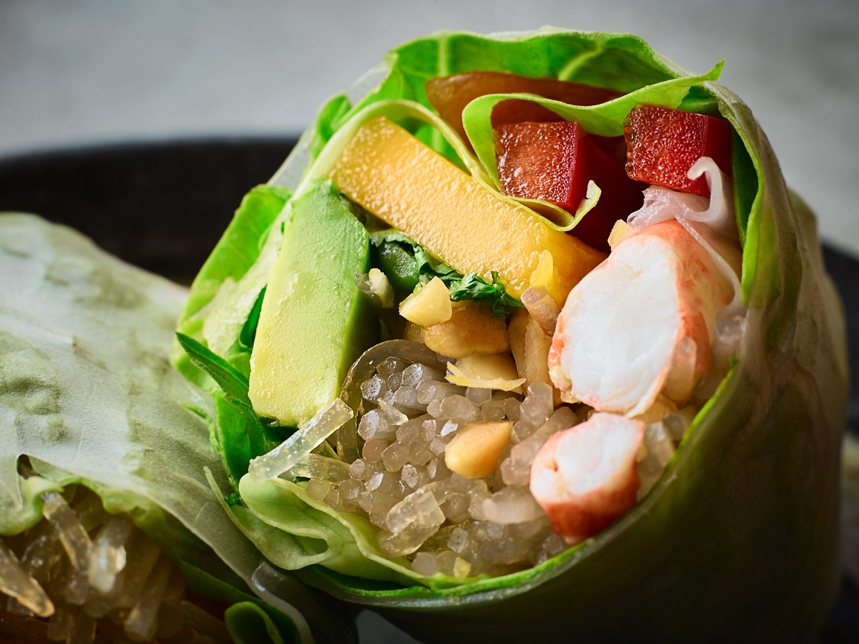 Fresh Shrimp Rolls with Coconut-Lemongrass Dipping Sauce - Traveling Fork