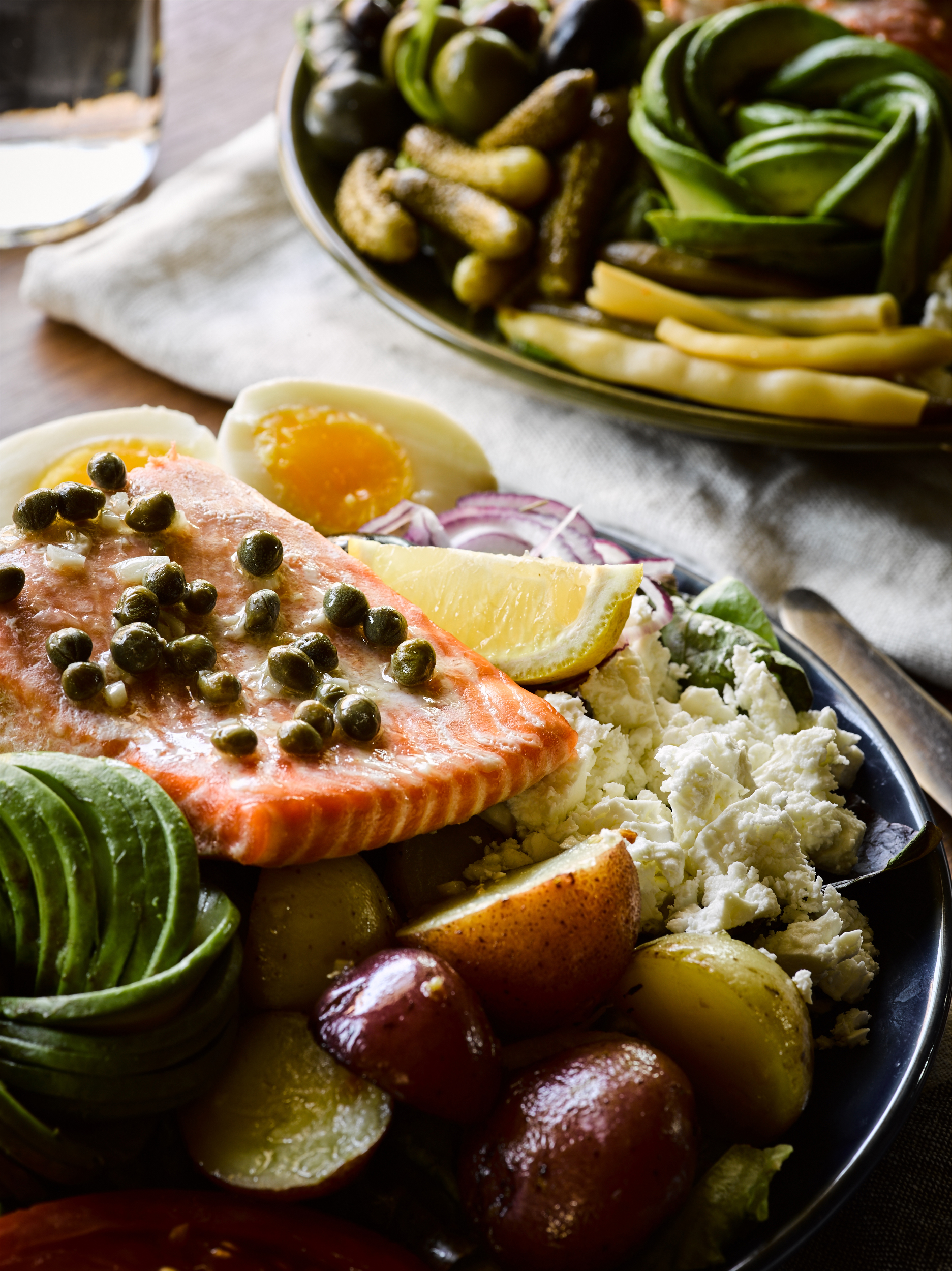 Loaded Salmon Nicoise Salad - Traveling Fork