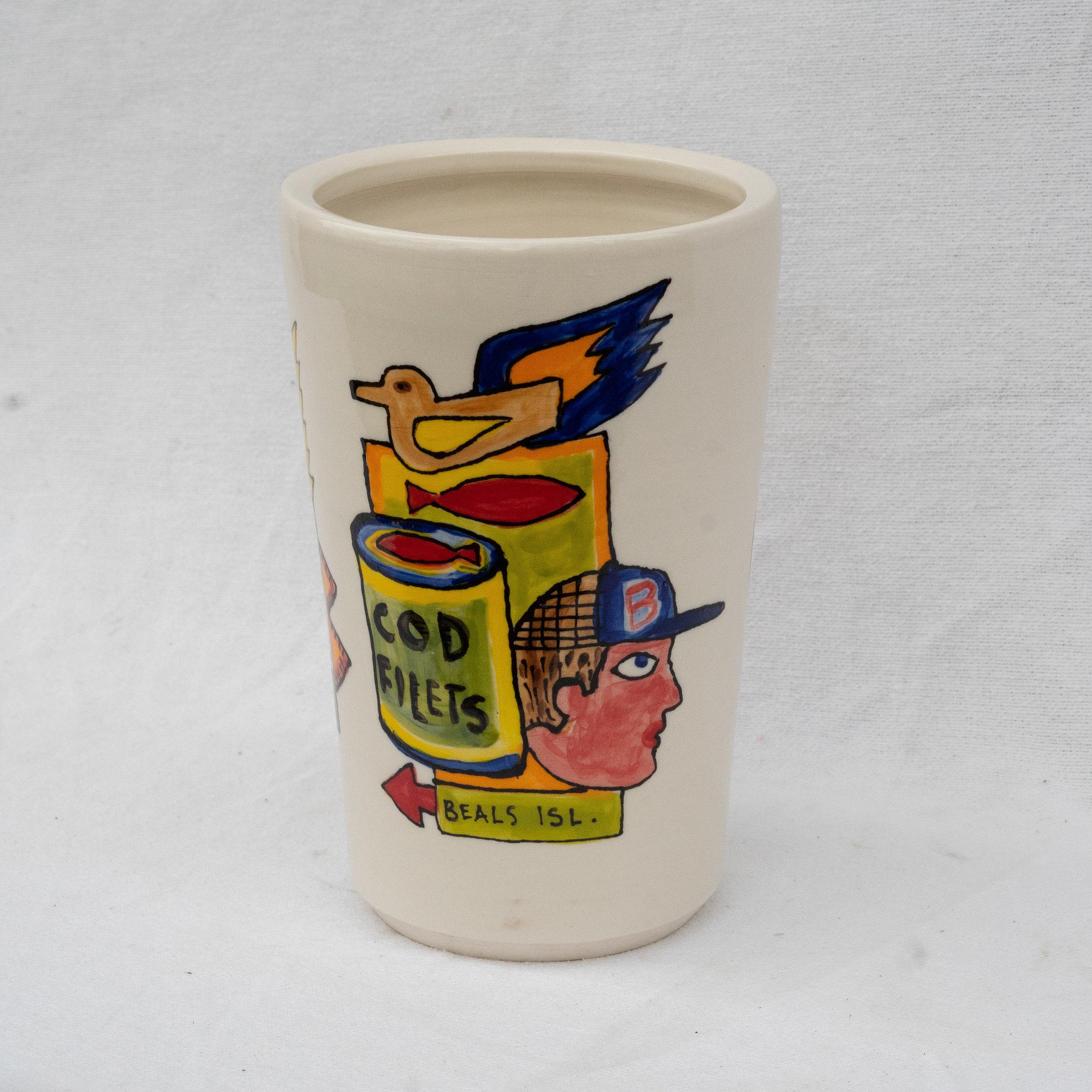 "Tim Fisher and Matt Barter Mythology Of Jonesport porcelain 16""x8' 260.00 quantity 1"