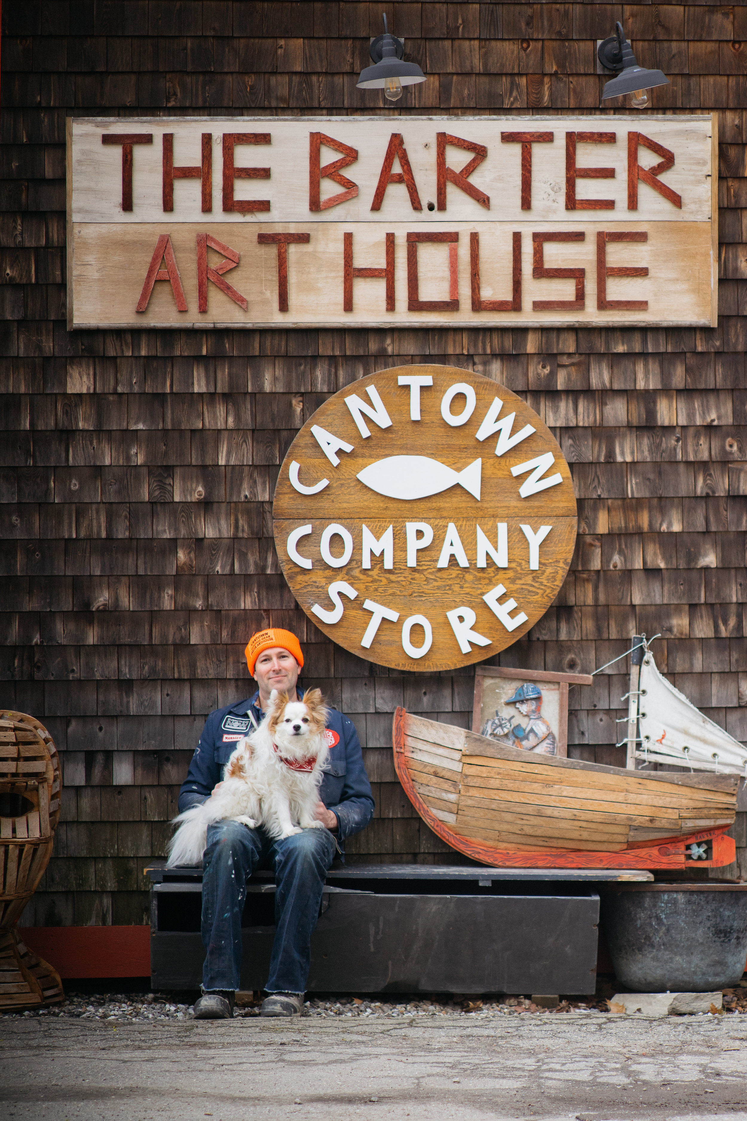 Cantown Company Store art installation opening June 1st 2019 with an opening reception on June 29th from 5 to 8pm. Cantown is a collaboration of father and son artists Matt and Philip Barter. The last Maine fish cannery closed in Prospect harbor nearly 10 years ago this is a tribute to those who worked in those factories.