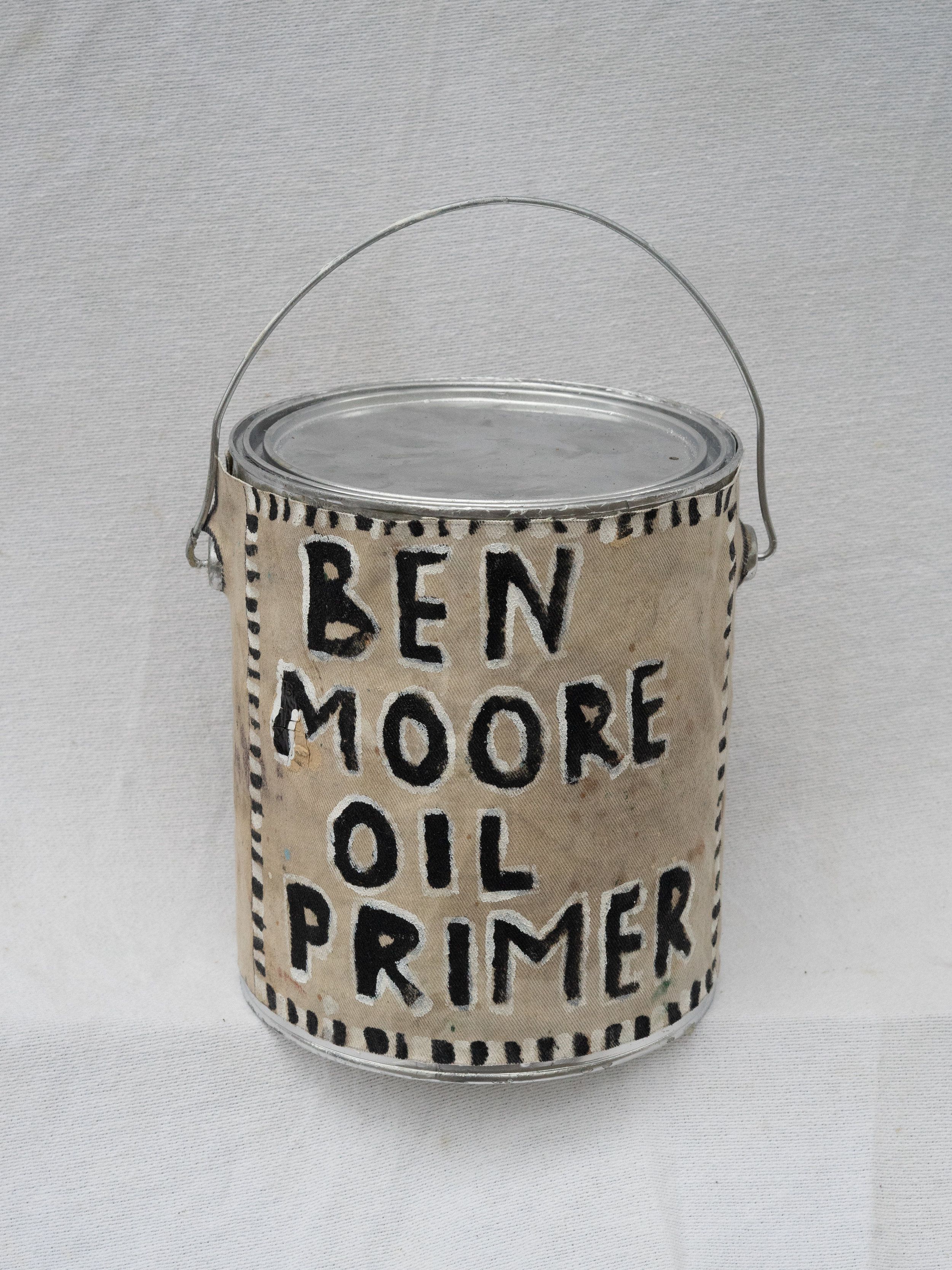 "Matt Barter Ben Moore Oil Primer oil paint on canvas on found object 12""x10' 225.00 quantity 5"