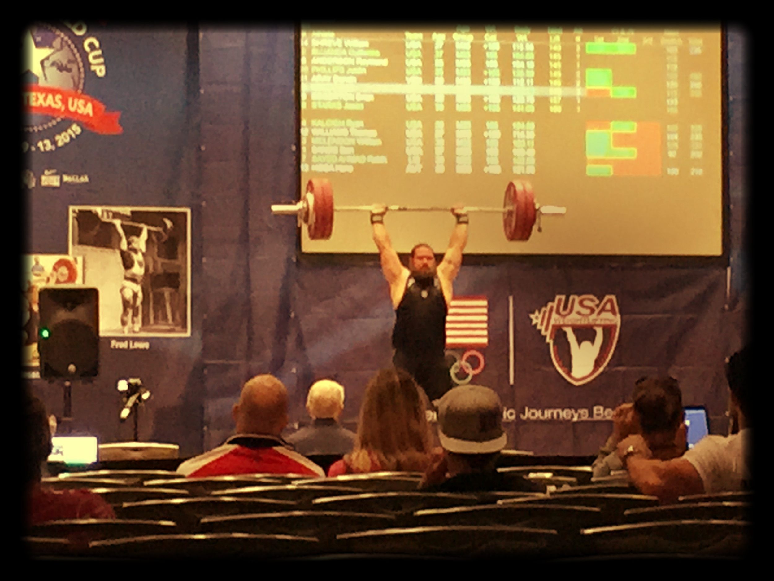 From the Masters Weightlifting Championship in Dallas this week