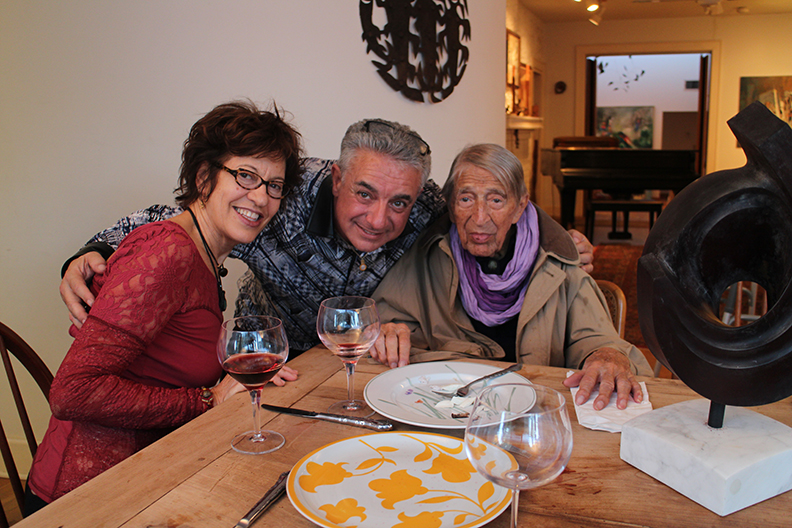 From left:  Hegina Rodriguez (painter) Sal Zagami (sculptor) and Henry Moretti.