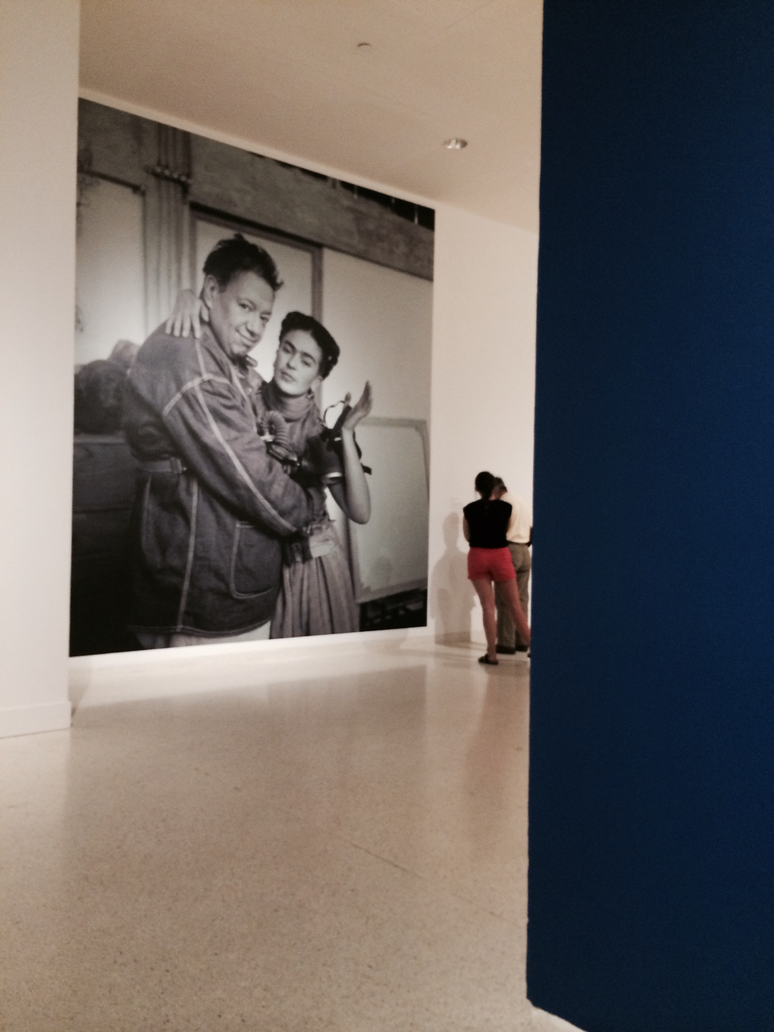 "The photos accompanying the exhibit were fantastic, an intimate glimpse into her life and art.  this one Diego and Frida.  In today's world their relationship would be labeled "" complicated""."