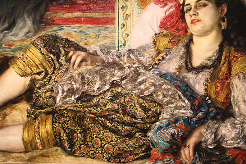 Detail from  Odalisque.   Auguste Renoir  1870.